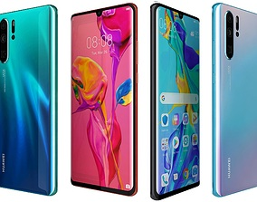 Huawei P30 Pro All Colors 3D