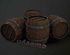 3D model Old Woden Barrel