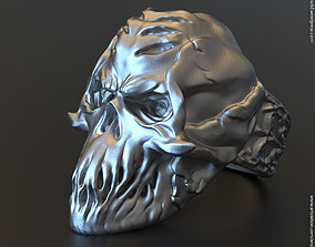 Skull vol4 ring jewelry 3D printable model