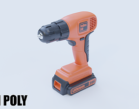 Cordless Drill 3D asset realtime PBR