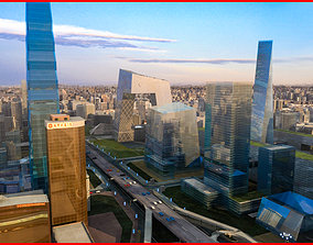 Modern Beijing CBD Animated 151 3D