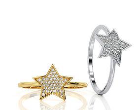 3D print model Ring Star Fashion Ring R F 0010