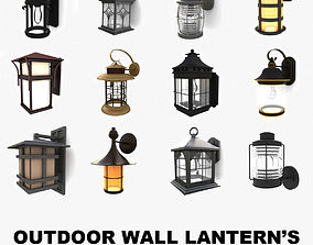 3D model Outdoor wall lanterns collection 1