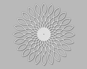 Floral Clock decor 3D print model
