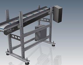 foodmachine 3D model Belt conveyor
