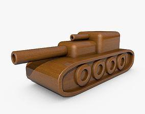 3D model Wooden Toy Tank