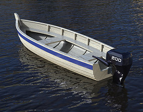 rigged Fishing boat 3D