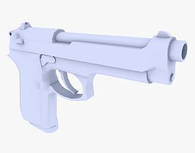 3D asset Beretta M9 Pistol