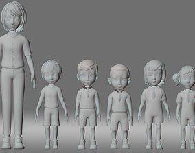 boy teacher student child people animation role 3D