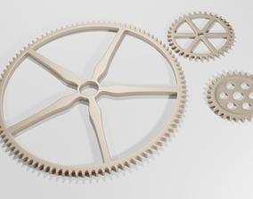 3D asset Metalic gear steampunk