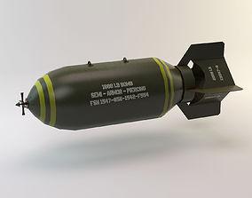 3D model Lowpoly Bomb