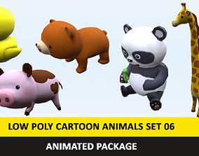 3D model Cartoon Cute Animals Low Poly Pack - 06 AR VR 1