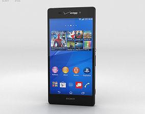 Sony Xperia Z3v Black 3D model