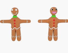 3D asset Gingerbread Character