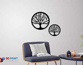 Silhouette Art Tree wall Art 3D printable model