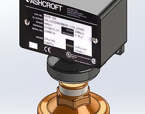 Ashcroft Pressure Switch with isolator 3D model