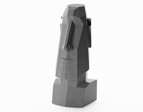 MOAI statuette 3D asset