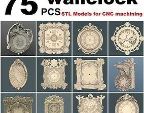 78 pcs wall clock set 3D models for artcam and
