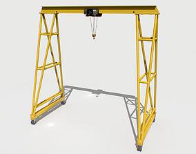Gantry Crane 3 3D asset