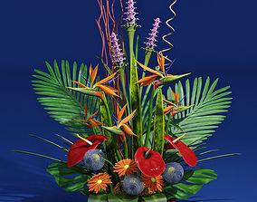 exotic bouquet 3D model