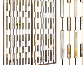 3D Decorative partition set 10