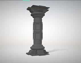 Ancient pillar 3D model