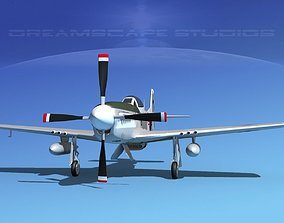 3D model P-51D Mustang Korean Air Force