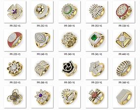 525 ladies women ring 3dm render details bulk collection