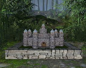 Medieval Castle Stone Palace 3D asset
