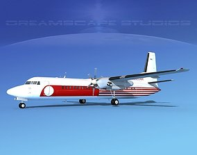 Fokker F-60 QuebecAir 3D model
