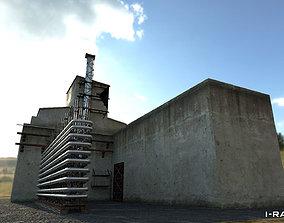 3D asset low-poly Old factory - Reaktor
