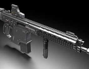 Heckler and Koch G56 - automatic rifle 3D