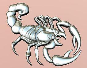 3D printable model jewellery scorpion pendant