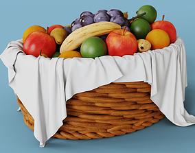 High Detailed Fruit Basket 3D