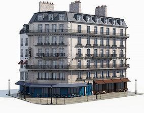 Corner haussman facade 3D model