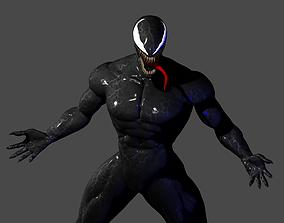 Venom 2018 movie posed 3D sculpt model