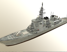 3D asset Japanese KONGO Class Aegis destroyers