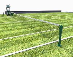 3D model realtime Tennis court