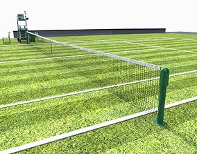 3D model realtime Tennis court