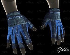 Weight lifting gloves 2 3D asset