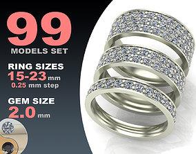 Eternity diamond ring 3D model