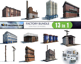 Factory Building BUNDLE 3D model