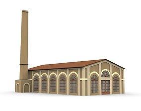 Cartoon Industrial Factory 3D asset