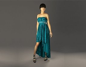 Evening Dress in 3DS Max - Marvlous Designer - vray