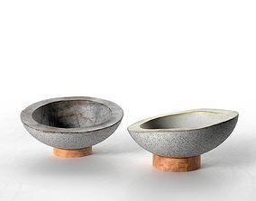 Concrete Bowls Nr2 3D model