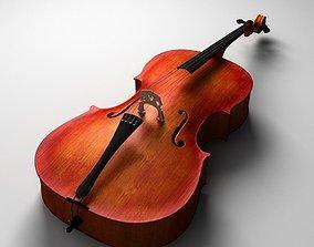 3D model Realistic Cello
