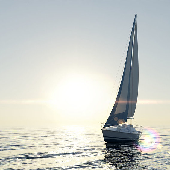 Monohull Sailboat