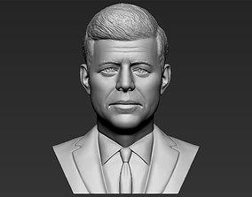 John F Kennedy bust 3D printing ready stl obj