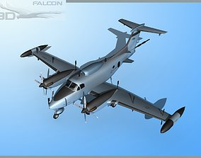 RC-12P Guardrail 2 US Army 3D model