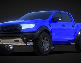 low-poly Ford Ranger Raptor Offroad 3D Model car